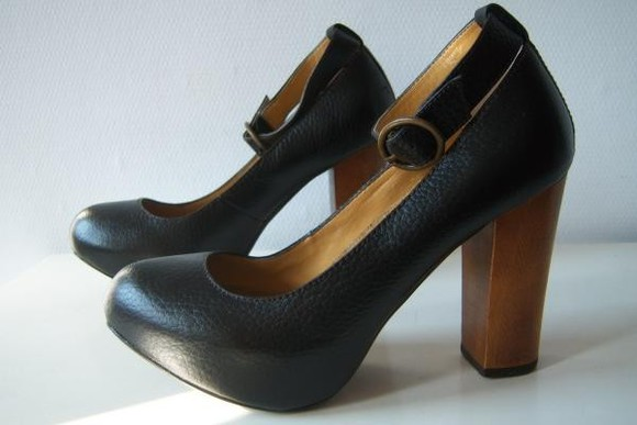 mary jane pumps black shoes colin stuart buckles high heels black shoes