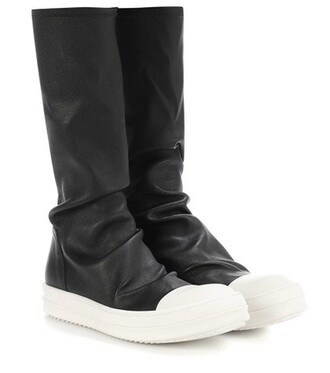 leather boots leather black shoes