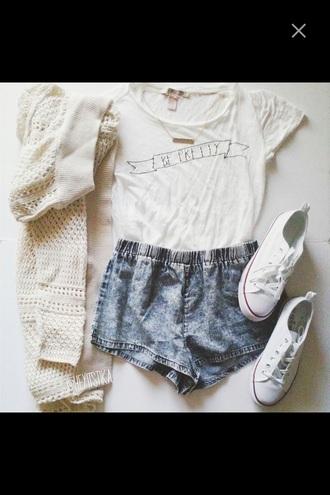 t-shirt white t-shirt cardigan