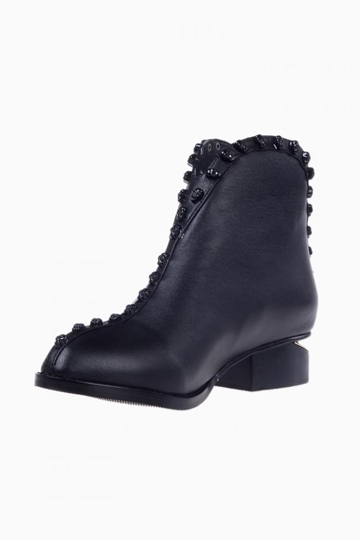 Skull Ankle Boots With Cut Out Heel [HXM8824]- US$105.72 - PersunMall.com