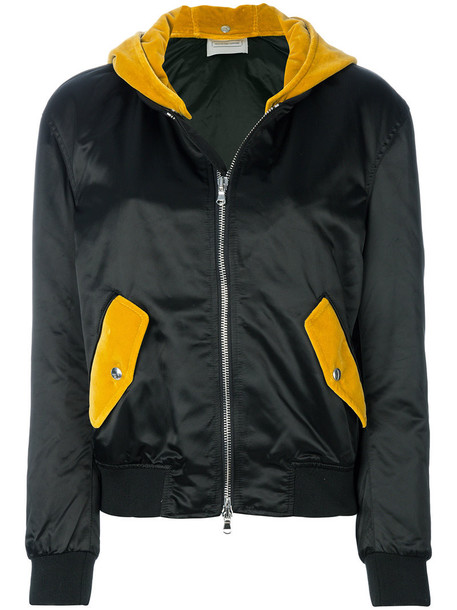 ROUTE DES GARDEN jacket bomber jacket women cotton black