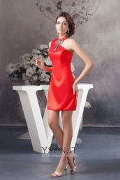 dress,vestiti rossi corti eleganti