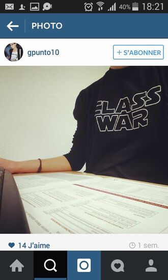 shirt class war star wars t-shirt parody tshirt parody humour