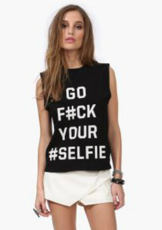 trendy selfie girl women shopaholicfashionistas selfie top go fuck your #selfie go fuck your selfie shirt muscle tank muscle tee muscle shirt