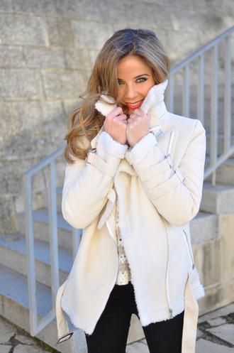 coat white coat quilt winter coat choies sweet