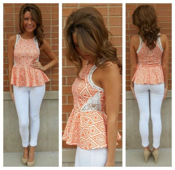 blouse pattern summer peplum