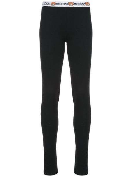 Moschino women spandex cotton black pants