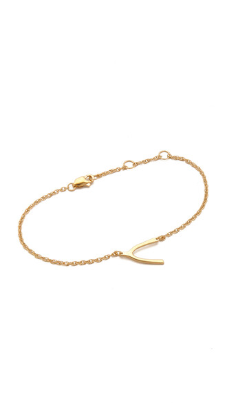 mini wishbone gold jewels