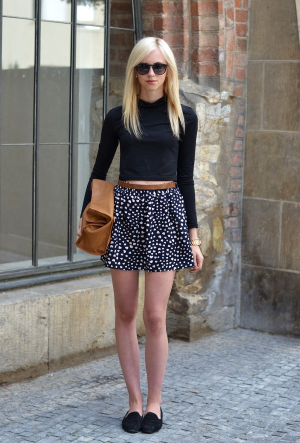 vogue haus t-shirt skirt shoes bag sunglasses jewels
