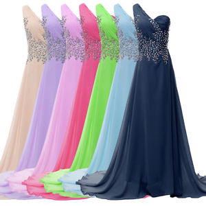 2014 Long Chiffon Evening Formal Bridesmaid Wedding Ball Gown Prom Party Dresses | eBay
