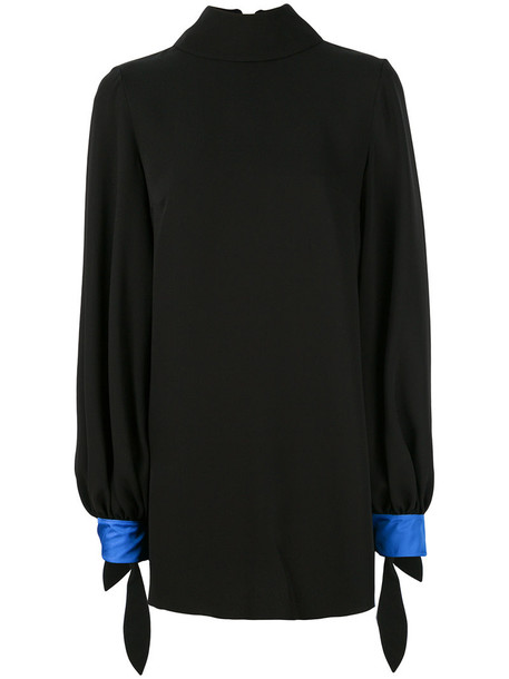 blouse oversized women black silk top