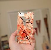 iphone,iphone cover,iphone case,cherry blossom,technology