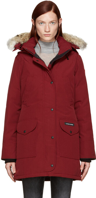 parka red coat