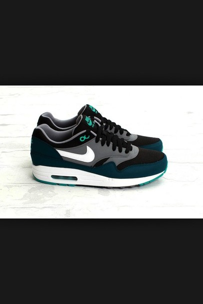 shoes blue shoses nike air max one girly