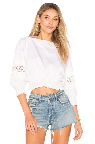 top cropped white