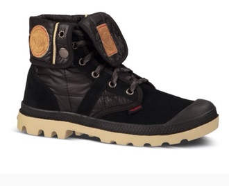 shoes palladium black brown rubber