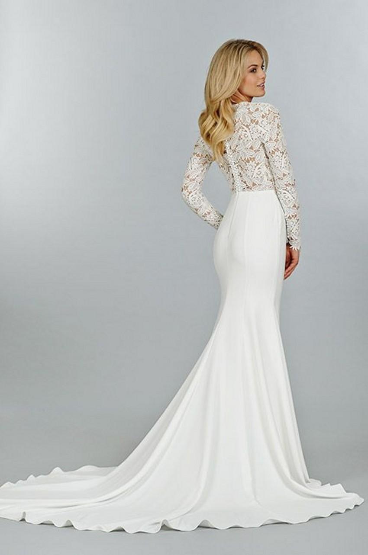 Mermaid Wedding Dresses With Sleeves Long Sleeve Illusion
