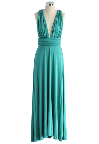 dress spotlight self-tie maxi dress in bluish green chicwish maxi dress green dress summer dress summer maxi dress