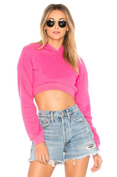 hoodie pink sweater