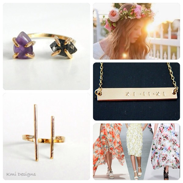 jewels gold jewelry summer outfits flower crown fashion love more gold ring gold bar necklace