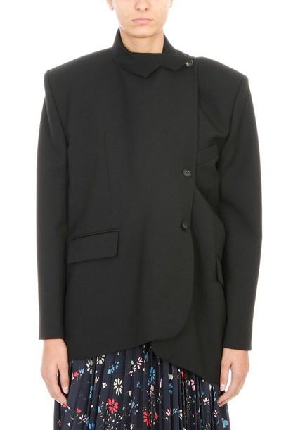 Balenciaga coat wool coat wool black