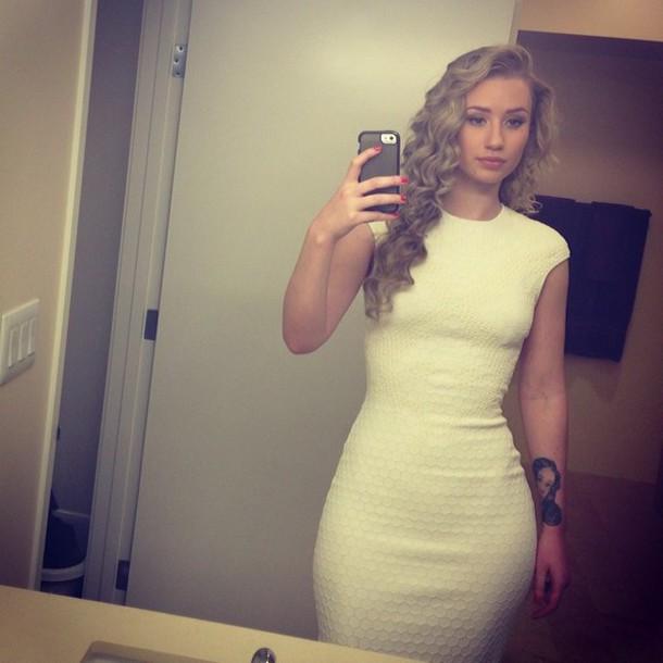 iggy azalea white dress bodycon dress