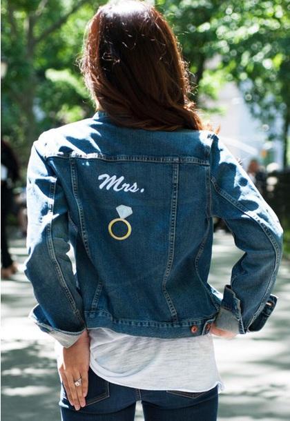 jacket bridal jean jacket