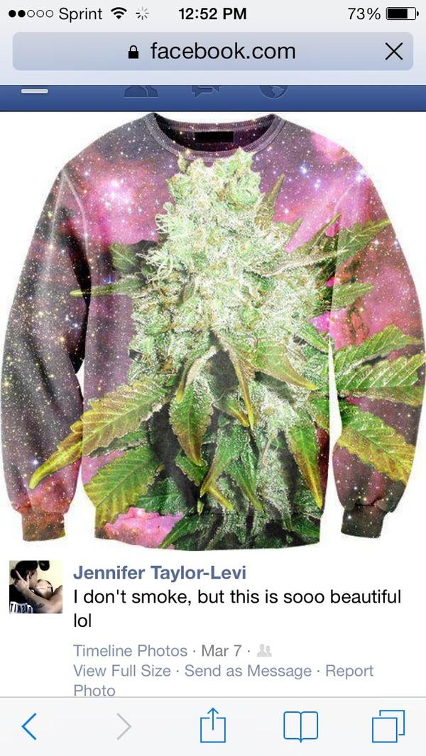 sweater weed sweater
