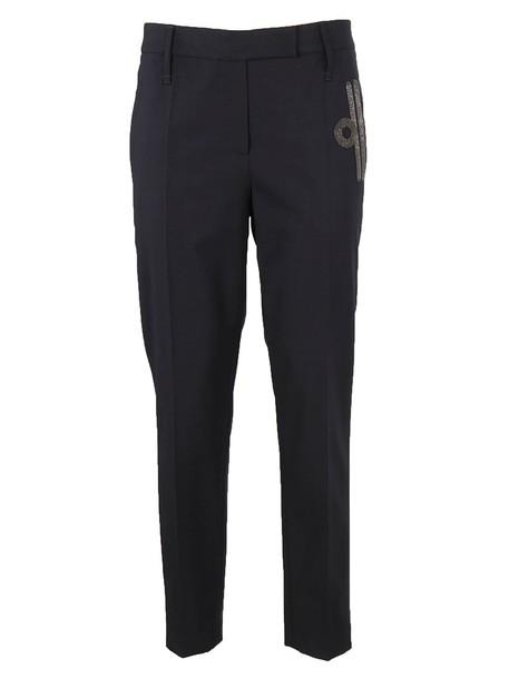 BRUNELLO CUCINELLI cropped dark grey pants