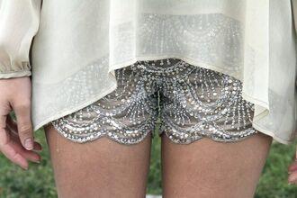 shorts sequin  shorts short sequins scalloped sequined shorts scalloped shorts beaded bedazzled beaded shorts beda