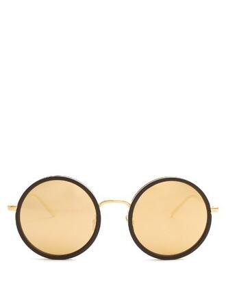 oversized sunglasses gold black