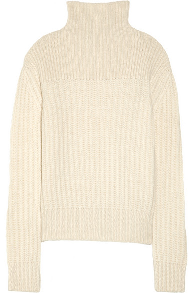 Row | Hunston chunky-knit alpaca and silk-blend turtleneck sweater |
