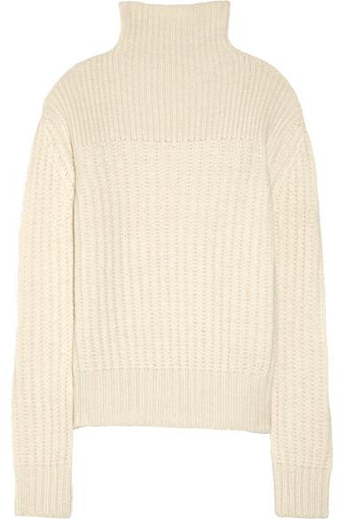 The Row|Hunston chunky-knit alpaca and silk-blend turtleneck sweater|NET-A-PORTER.COM