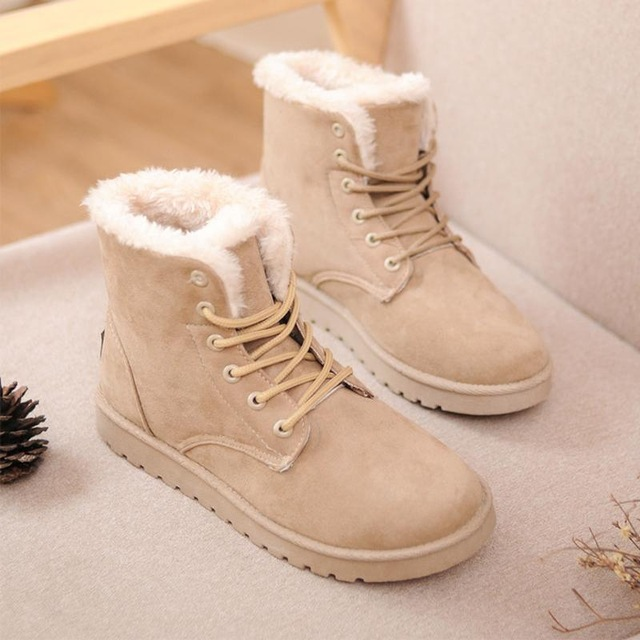 842dd08dbf2 Online Shop winter snow fashion canvas shoes inside fur warm female  sneakers cotton made thick soled students shoes Sapatos Femininos