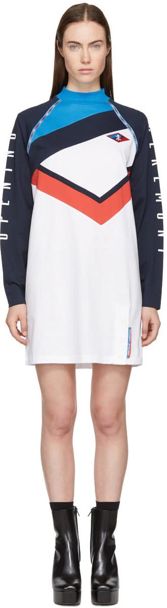 dress shirt dress t-shirt dress navy white