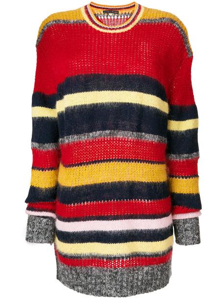 Alexa Chung - knitted horizontal stripe jumper - women - Cotton/Acrylic/Nylon/Mohair - XS, Cotton/Acrylic/Nylon/Mohair