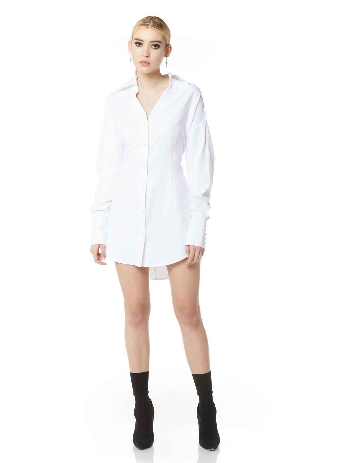 Darted Boyfriend Shirt Dress