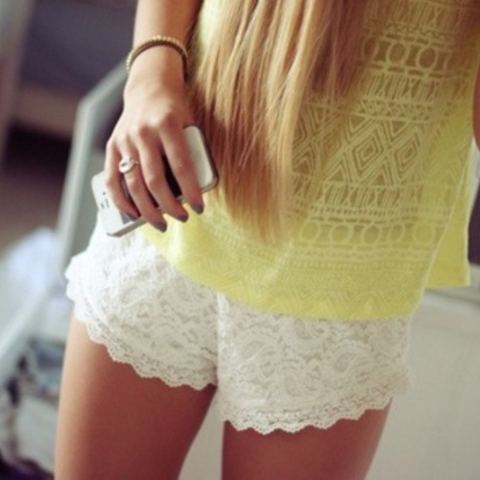 Lace Shorts are a Girl's Best Friend   A Girl's Best Friend