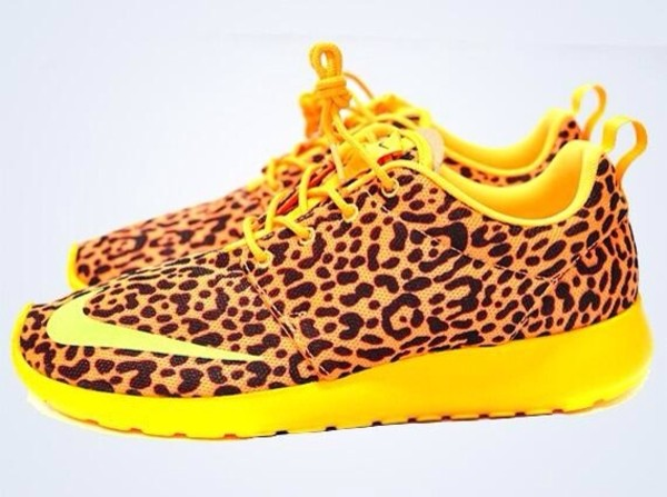 shoes leopard print yellow nike