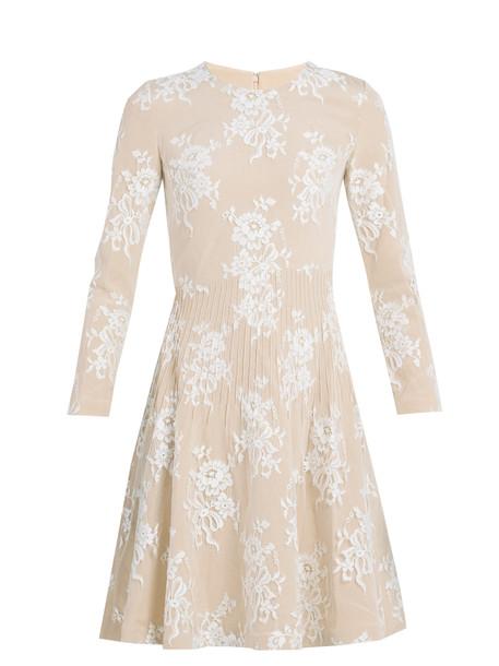 Huishan Zhang dress lace dress lace floral cotton light pink light pink