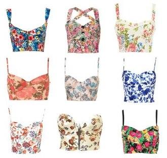 tank top flowers rita ora bralette bralet top corset bra skirt pink pineapple