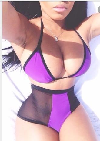 swimwear purple