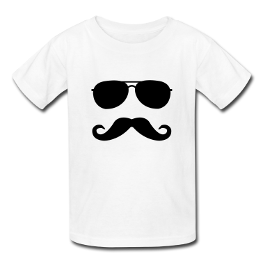 Mustache and glasses t