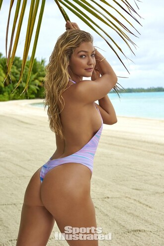 swimwear one piece swimsuit gigi hadid beach summer editorial