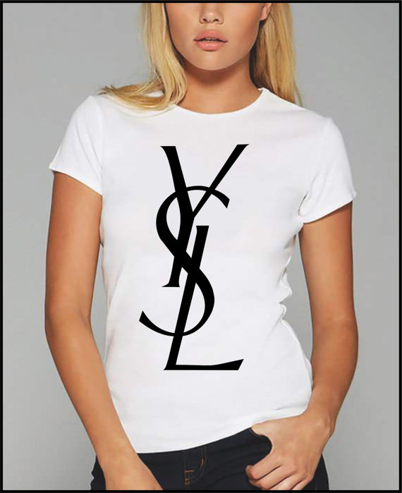 Ysl tshirt by garageteez on etsy for Who sells ysl t shirts