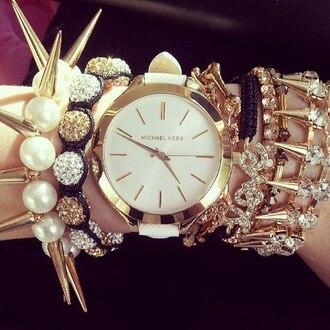 jewels watch bracelets gold spikes