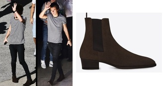 shoes chelsea boots harry styles brown shoes one direction