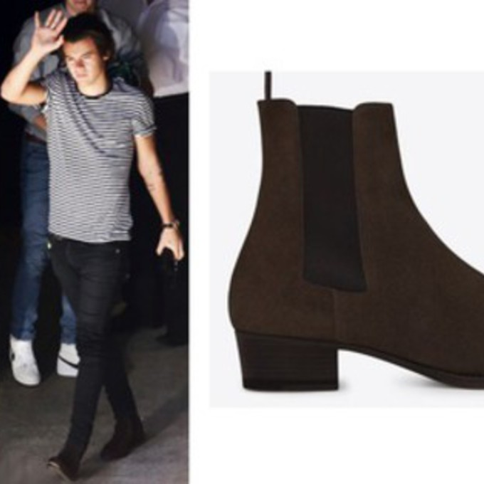 shoes one direction chelsea boots brown shoes harry styles