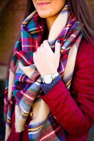 scarf flannel scarf burgundy plaid winter scarf trendy fall scarves fall scarf