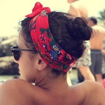 scarf hair band hair accessories red floral gorgeous colourfull flower crown hat cute bandana summer lovely colorfull scarf red